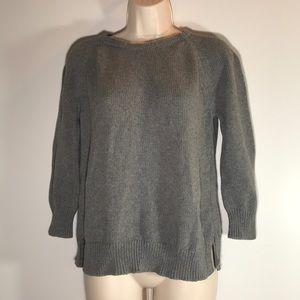 Zara Knit Sweater grey cotton sweater